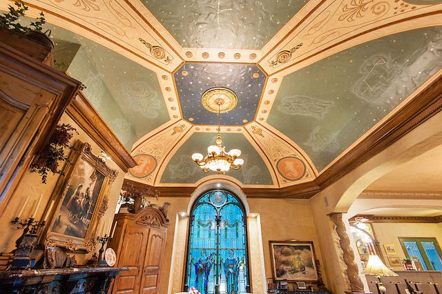 Celestial ceiling detail