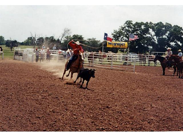 This arena is 180 x 430 with great ground, roping chute, return