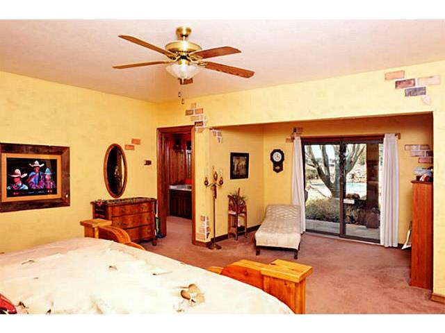 From the Master bedroom there is a great view and access to the