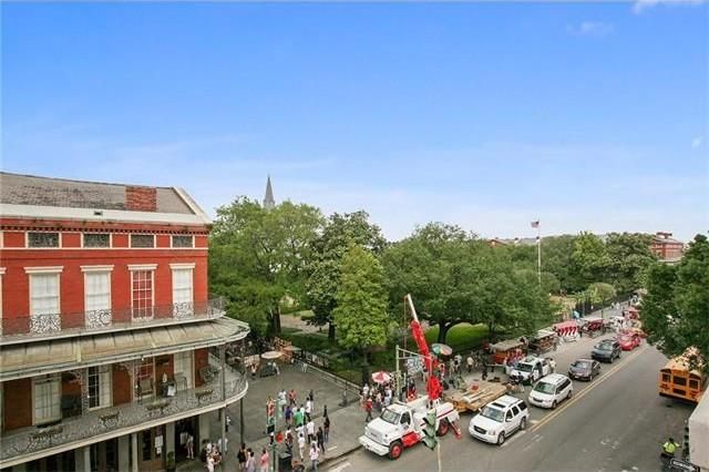 Views of Jackson Square from the living room, NOT the bedrooms!