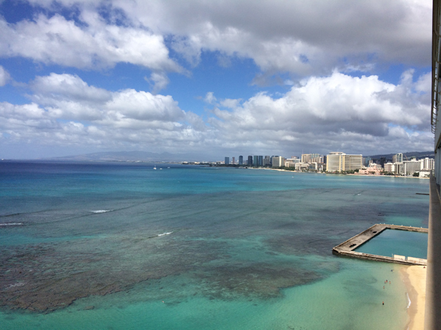 Views of Waikiki exactly where you want them ... over there.