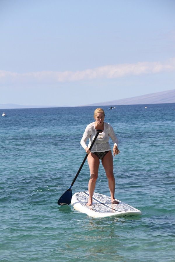 Candy on paddleboard