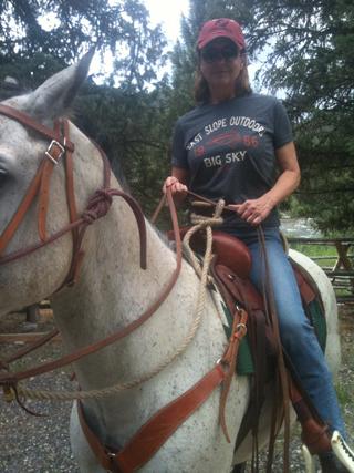 Jane McGarry Horseback
