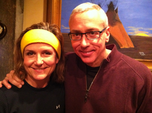 Jane McGarry and Dr. Drew at the Yellowstone Club.