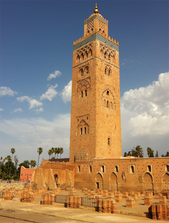 Minaret of the Koutoubia Mosque, built 1190AD