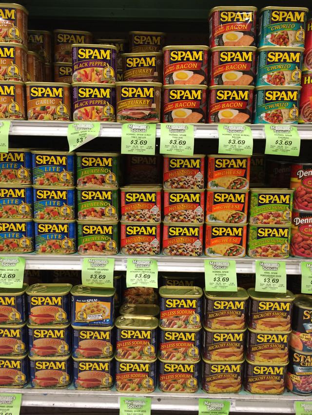 Hawai'i loves its Spam! And so many flavors!