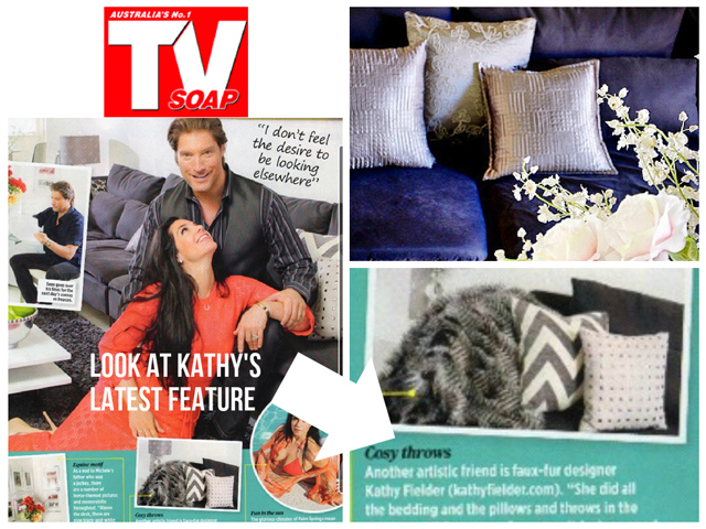 A TV soap mag featured Sean Kanan and his wife, Michelle, on the cover in their Palm Springs getaway designed by Kathy Fielder.