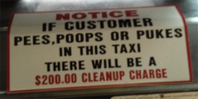 Sign of things to come in airport taxi