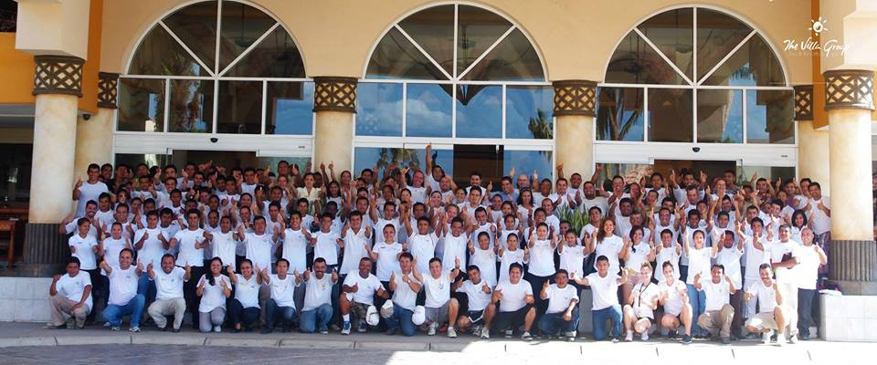 The staff at Villa Del Palmar is ready for guests.