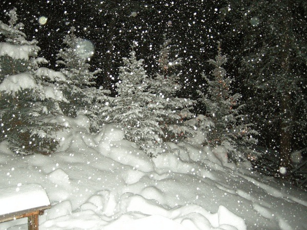 There's no shortage of powdery snow at Jane McGarry's Big Sky cabin!