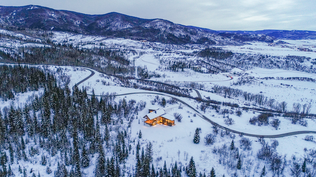 Alpine Mountain Ranch Property Twilight Drone 39 - One-of-a-kind Alpine Mountain Ranch & Club epitomizes real estate's Golden Rule