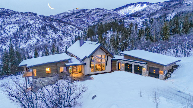 Alpine Mountain Ranch Property Twilight Drone 30 1 - If You Build It, They Will Come: AMRC Breaks Ground on Picturesque Pad in Steamboat