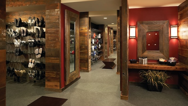 Summit Club locker room w boots - Steamboat's Big Snow Year Means More Off-Mountain Adventure
