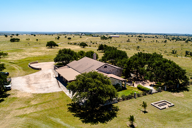 The ranch house sits on over 200 acres.